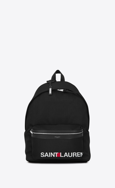 SAINT LAURENT Backpack Man CITY SAINT LAURENT Print Backpack in Black a_V4