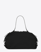 Large ID Convertible Bag in Black canvas
