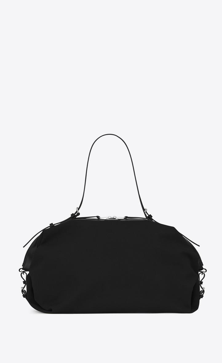 Saint Laurent Id Bags Man Large Convertible Bag In Black Canvas A V4