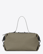 SAINT LAURENT ID bags U large id convertible bag in military khaki canvas f