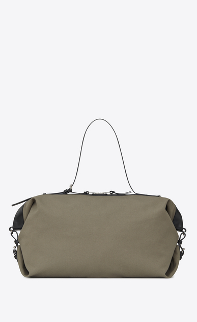 SAINT LAURENT ID bags U large id convertible bag in military khaki canvas a_V4
