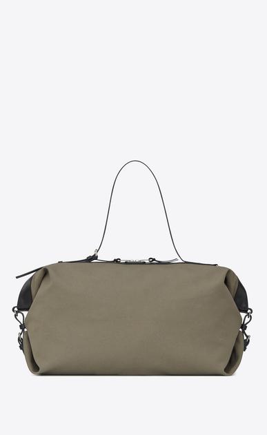 SAINT LAURENT ID bags U large id convertible bag in military khaki canvas v4