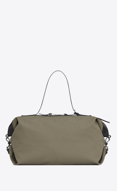 SAINT LAURENT ID bags U large id convertible bag in military khaki canvas b_V4