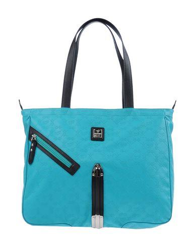 PIERO GUIDI レディース ハンドバッグ ターコイズブルー 紡績繊維