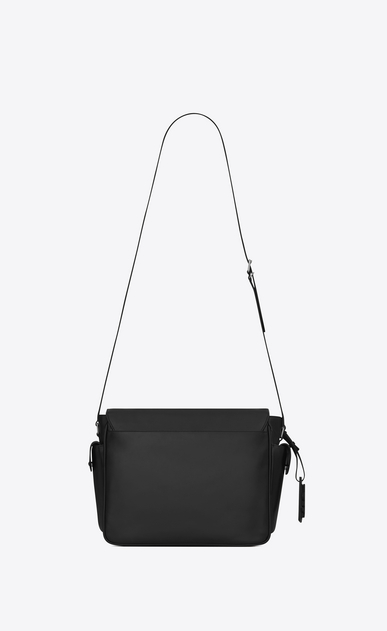 SAINT LAURENT Messenger And Crossbody Man id messenger bag in black leather b_V4