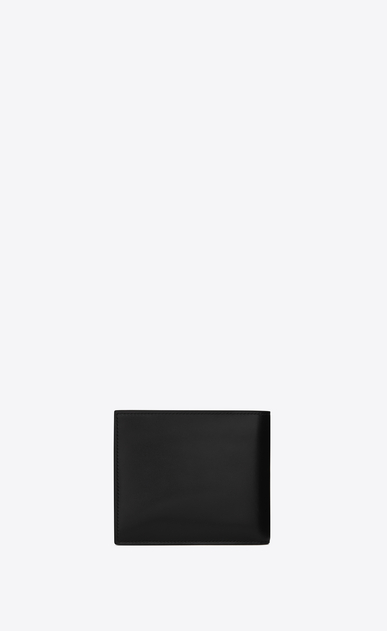 SAINT LAURENT ID SLG Homme portefeuille east/west id en cuir noir b_V4