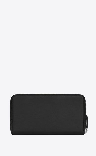 SAINT LAURENT ID SLG Man ID Zip Around Wallet in Black leather b_V4