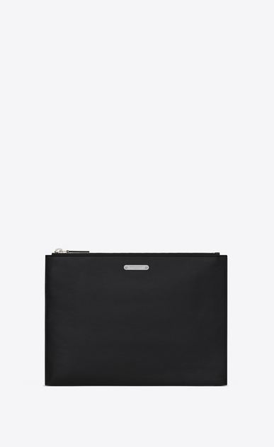 SAINT LAURENT ID SLG U ID Tablet Holder in Black leather a_V4