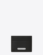 SAINT LAURENT ID SLG U ID Credit Card Case in Black leather f