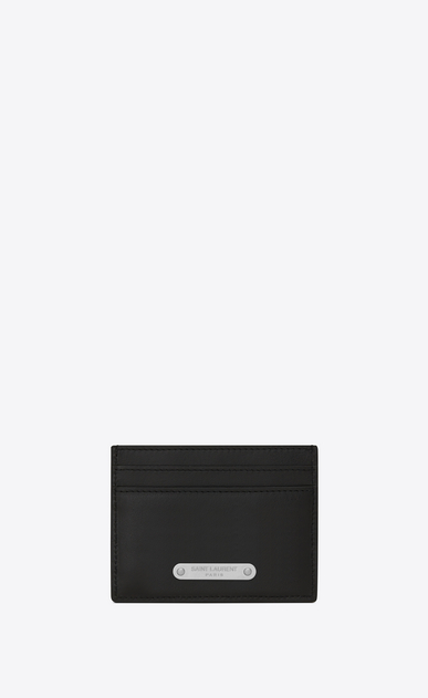 SAINT LAURENT ID SLG U ID Credit Card Case in Black leather a_V4