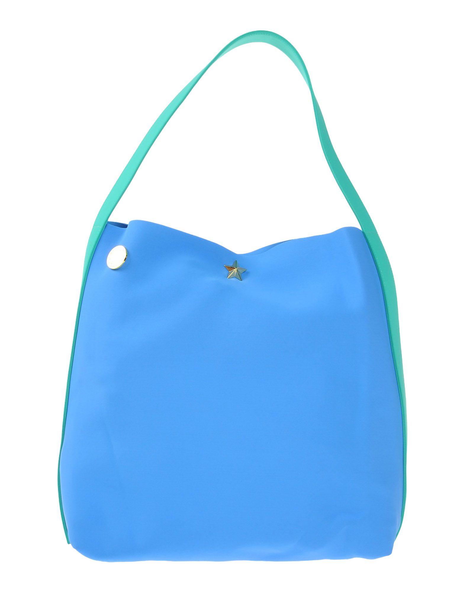 LA FILLE des FLEURS Damen Handtaschen Farbe Blaugrau Größe 1