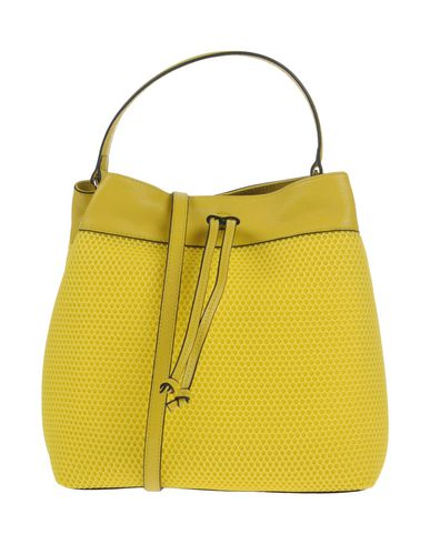 COCCINELLE レディース ハンドバッグ イエロー 革 / 紡績繊維