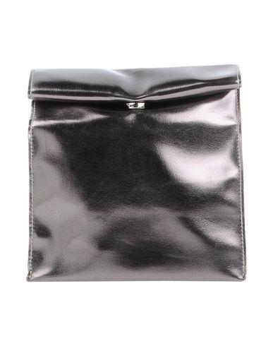 FRANCO PUGI レディース ハンドバッグ シルバー 紡績繊維
