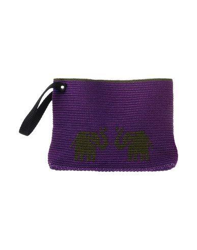 OPALINE レディース ハンドバッグ パープル 紡績繊維