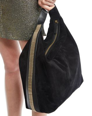 "LANVIN MEDIUM ""CHAÎNE"" HOBO BAG Shoulder bag D a"