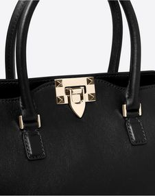 Small Rockstud top-handle bag