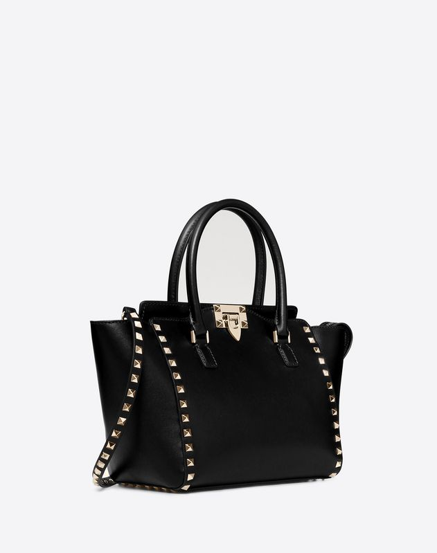 Small Rockstud top-handle bag