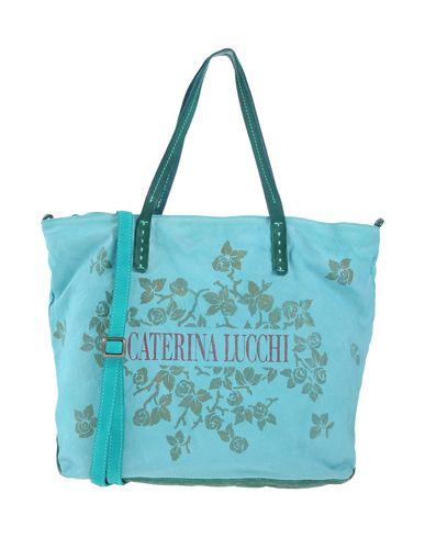CATERINA LUCCHI レディース ハンドバッグ ターコイズブルー コットン 100% / 革