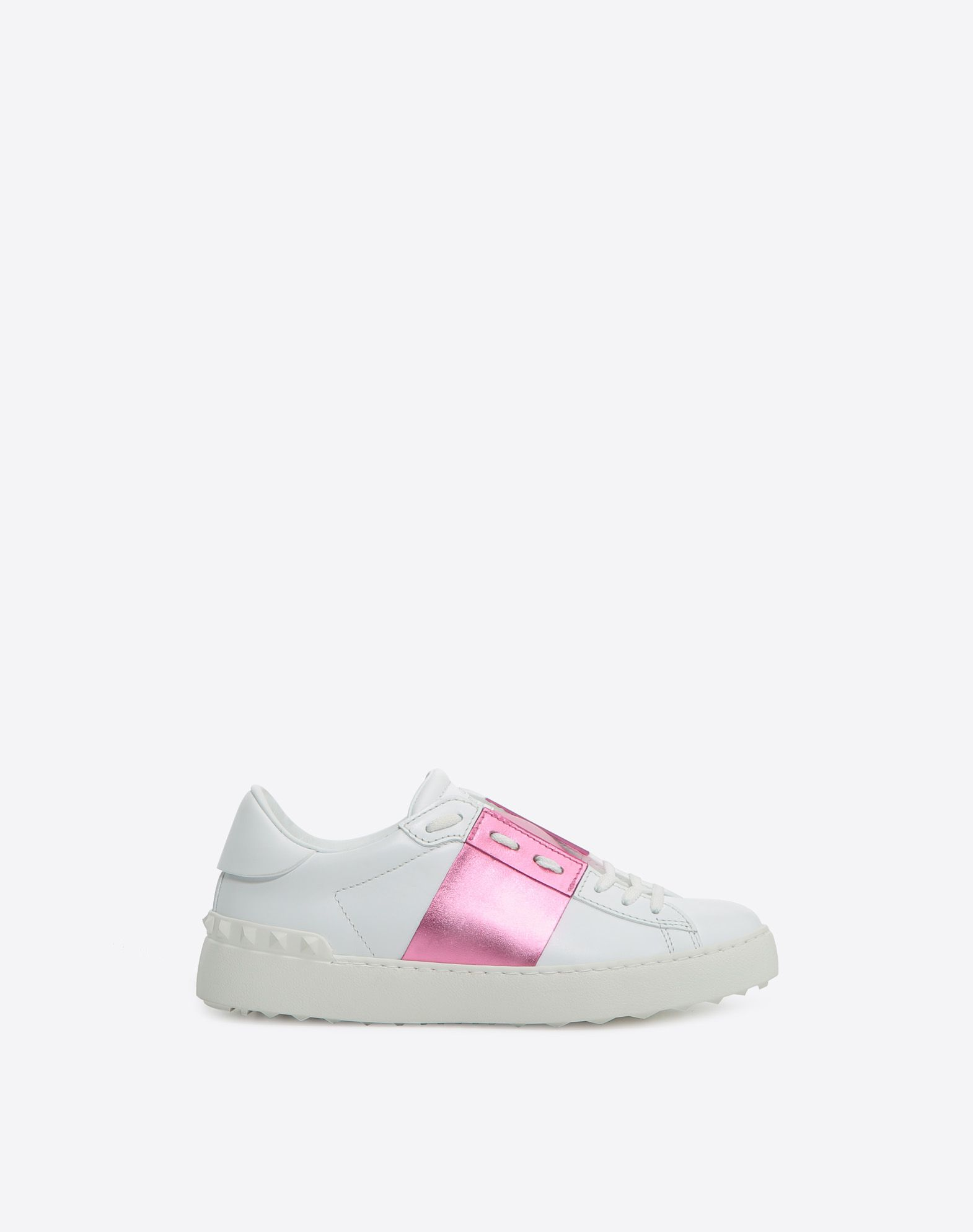 Open Sneaker with Metallic Stripe for