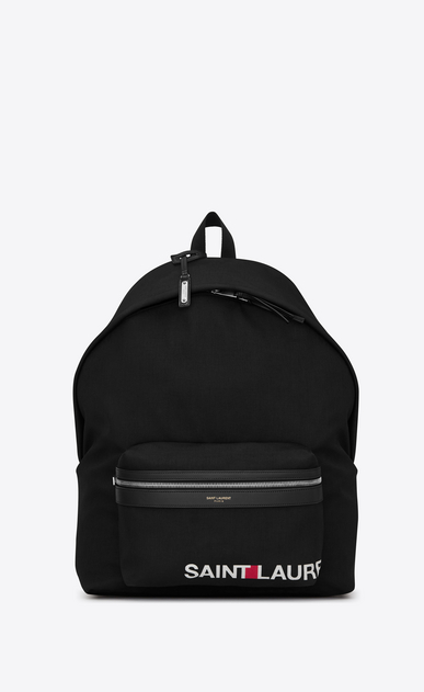 SAINT LAURENT Giant Backpacks U giant CITY SAINT LAURENT Print Backpack in Black a_V4