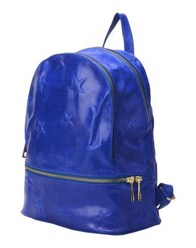 STUDIO MODA レディース バックパック&ヒップバッグ ブルー 革