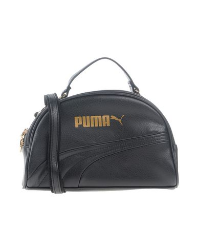 PUMA レディース ハンドバッグ ブラック 紡績繊維