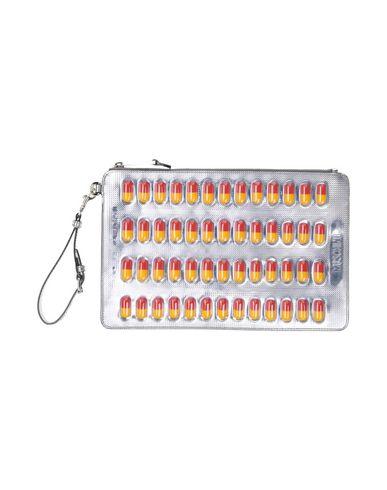 MOSCHINO COUTURE レディース ハンドバッグ シルバー 革 / プラスティック