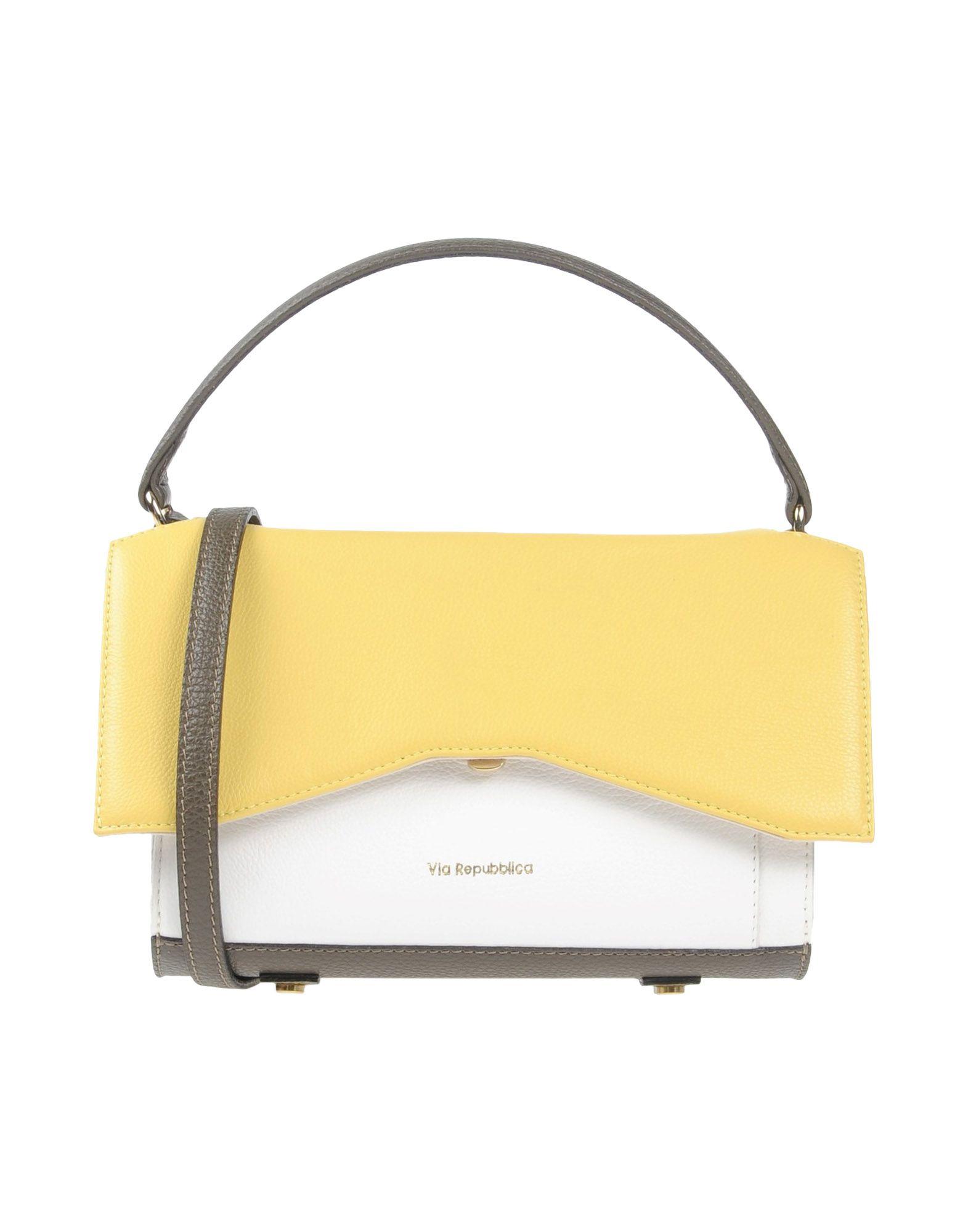 VIA REPUBBLICA Damen Handtaschen Farbe Gelb Größe 1