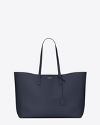SAINT LAURENT Shopping Saint Laurent E/W D shopping saint laurent tote bag in navy blue leather f