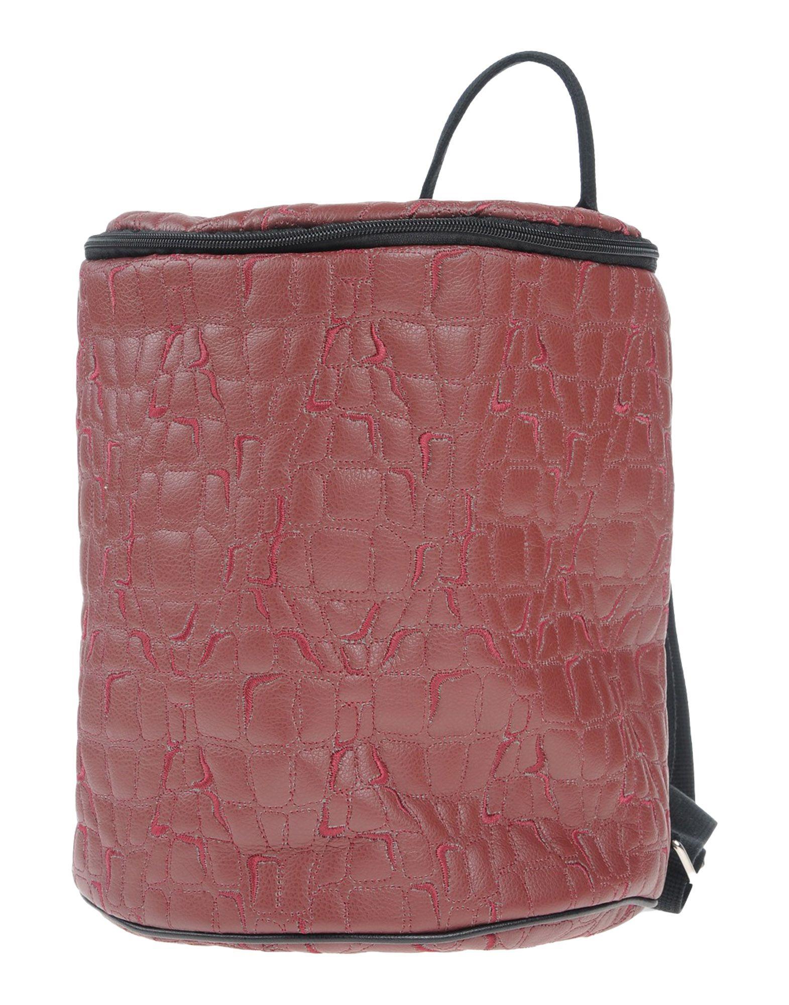 《送料無料》IDEA77 レディース バックパック&ヒップバッグ ボルドー 紡績繊維