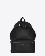 SAINT LAURENT Backpack U zaino city nero in pelle lavata f