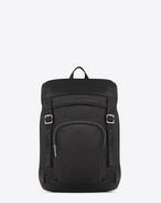 SAINT LAURENT Buckle Backpacks U délavé rucksack in black washed leather f