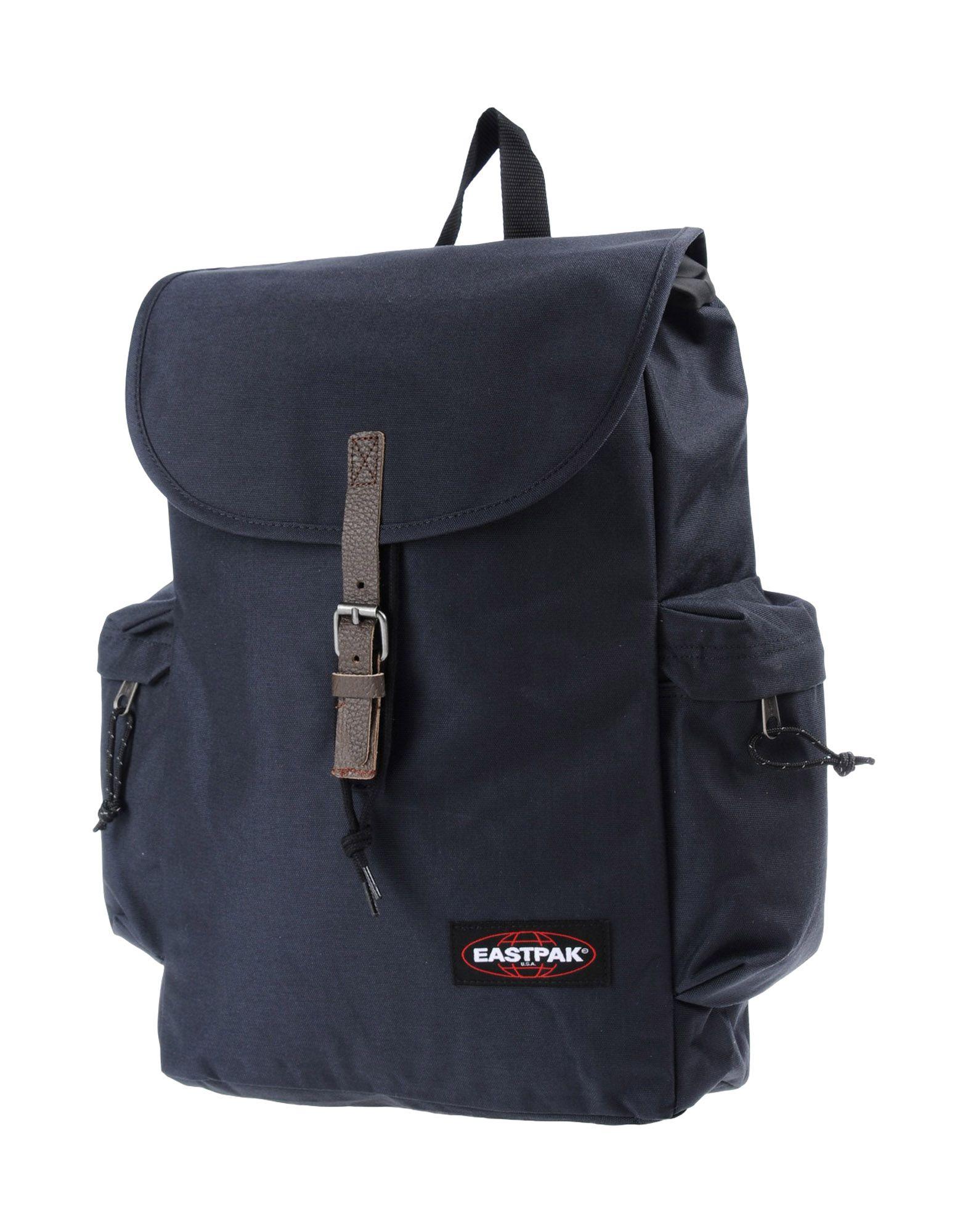 《送料無料》EASTPAK Unisex バックパック&ヒップバッグ ダークブルー 紡績繊維 / 牛革(カーフ)
