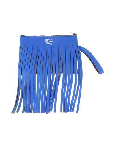 TAT レディース ハンドバッグ ブルー ナイロン 80% / ポリウレタン 20%