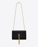 SAINT LAURENT MONOGRAM KATE WITH TASSEL D classic medium monogram saint laurent tassel satchel in black crocodile embossed leather f