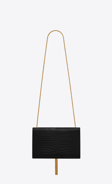 SAINT LAURENT MONOGRAM KATE WITH TASSEL D classic medium monogram tassel satchel nera in coccodrillo stampato b_V4