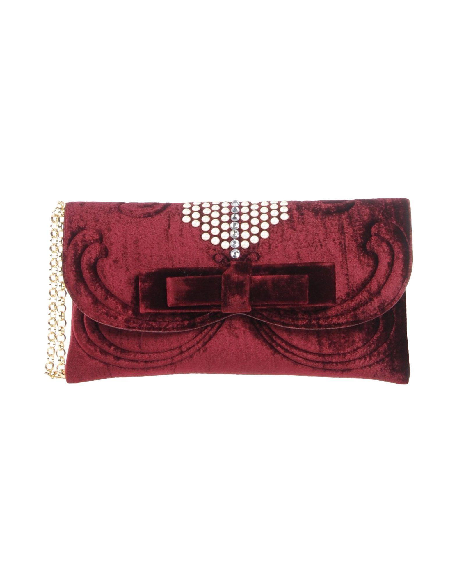 《送料無料》LA FILLE des FLEURS レディース ハンドバッグ ボルドー 紡績繊維