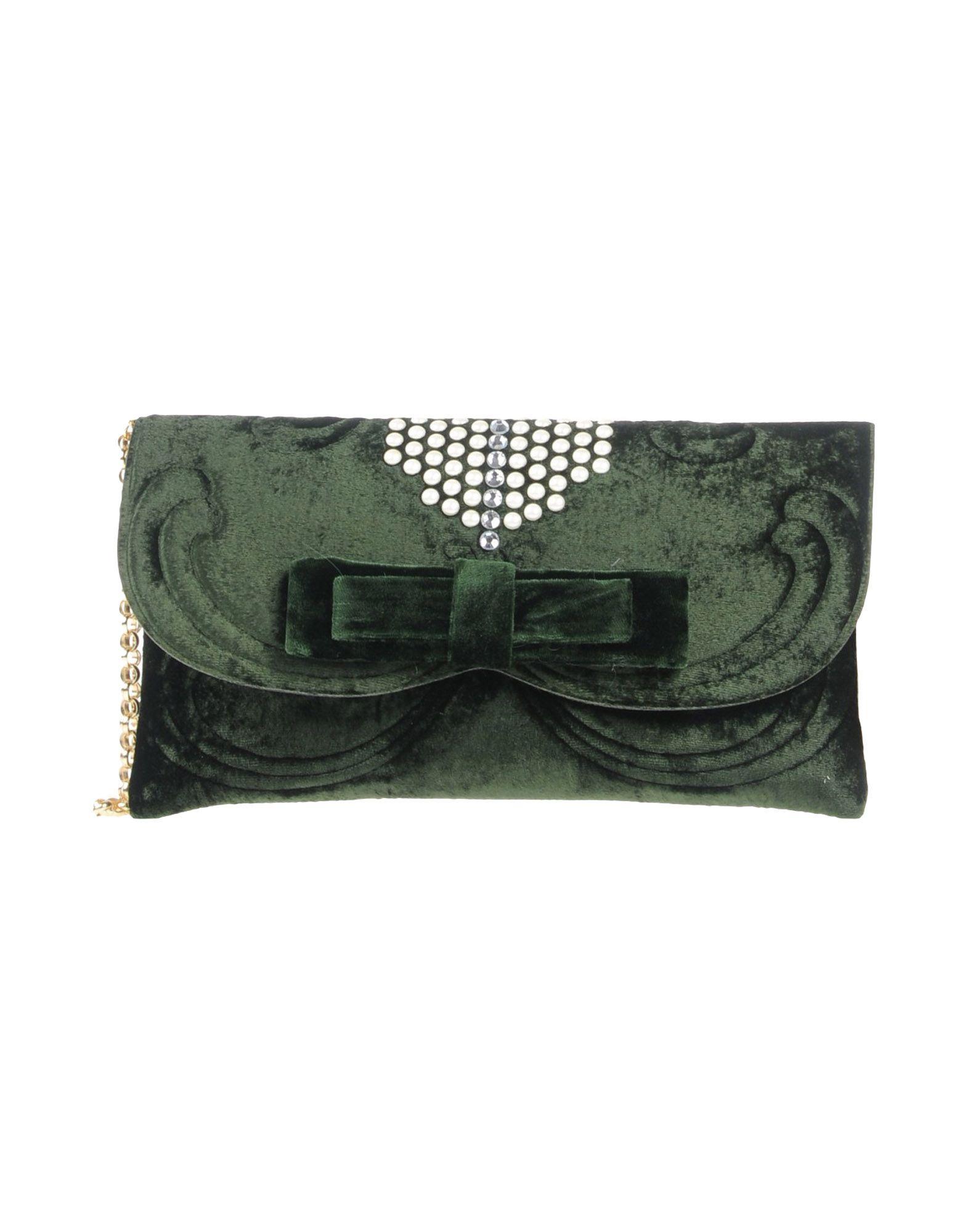 《送料無料》LA FILLE des FLEURS レディース ハンドバッグ ミリタリーグリーン 紡績繊維