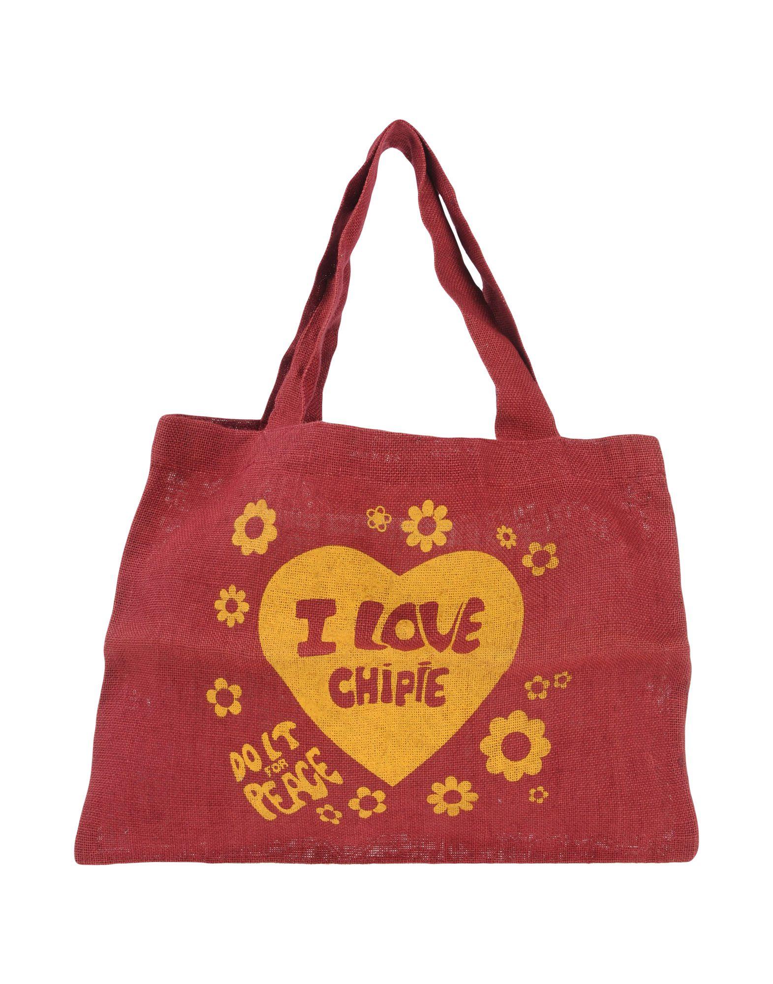 《送料無料》CHIPIE レディース ハンドバッグ ボルドー 紡績繊維