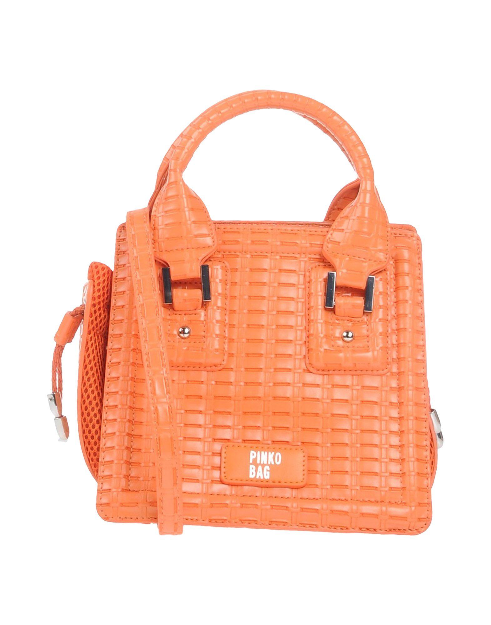 《送料無料》PINKO レディース ハンドバッグ オレンジ ポリウレタン 100% / ポリエステル