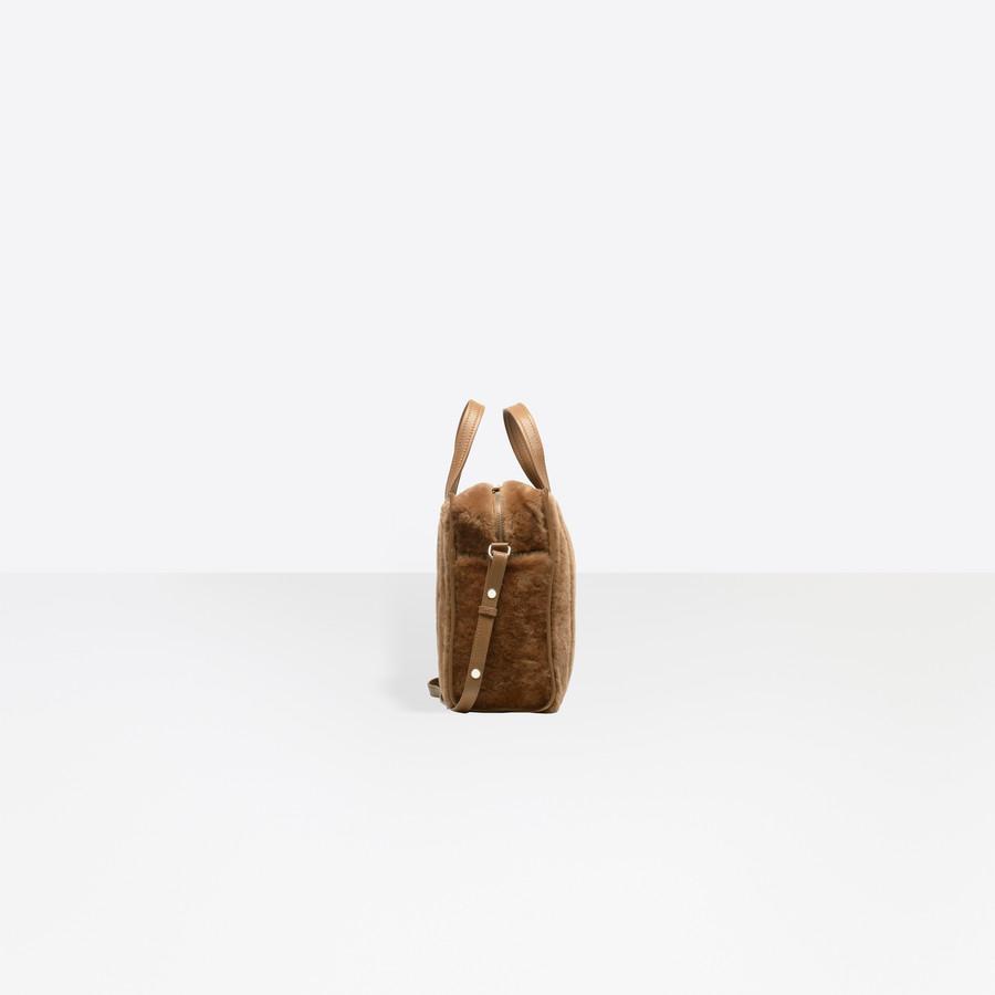 BALENCIAGA Bazar Shearling Shopper XS Bazar handbags Woman i
