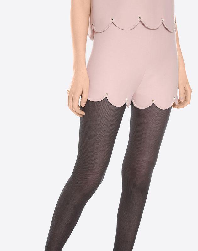 扇形饰边 Couture 绉绸短裤