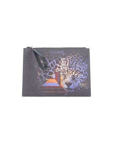 JUST CAVALLI レディース ハンドバッグ ブラック コットン 50% / ポリエステル 50% / ポリウレタンコート