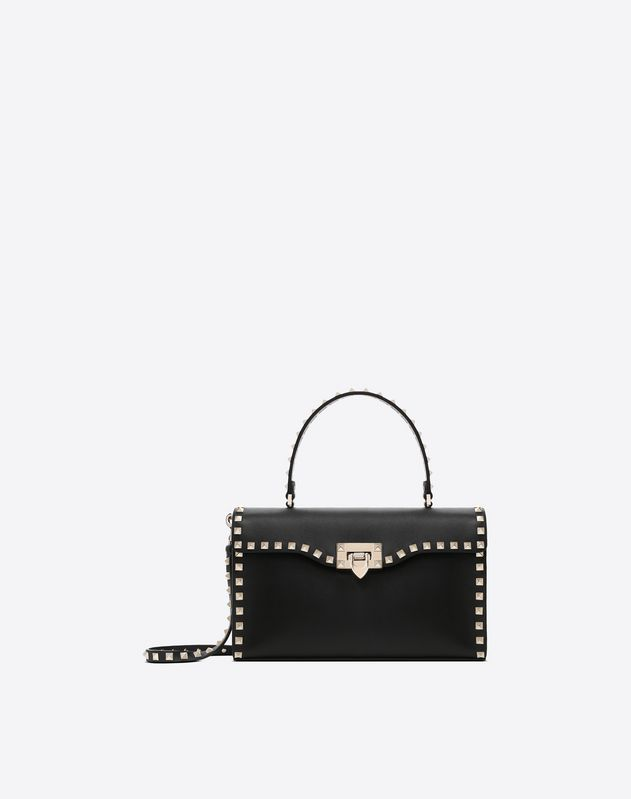 Small Rockstud Top Handle Bag