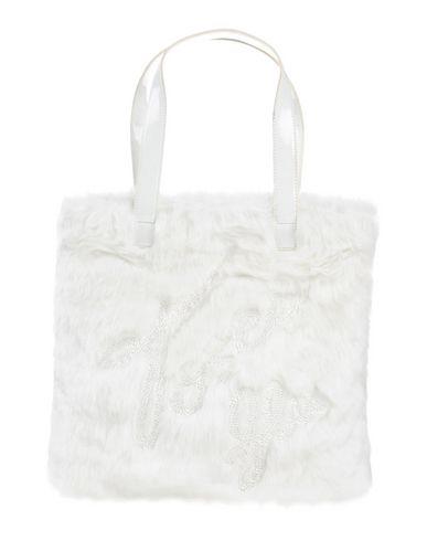 TOSCA BLU レディース ハンドバッグ ホワイト ポリエステル 90% / ポリ塩化ビニル 10%