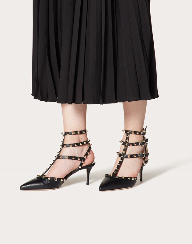 Rockstud Ankle Strap Pump 65mm
