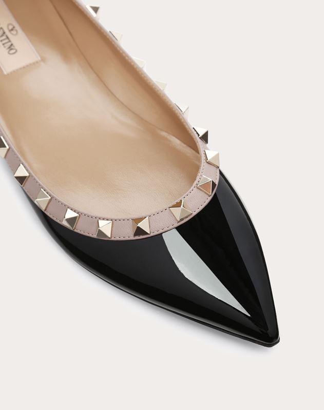 Patent Rockstud Ballet Flat