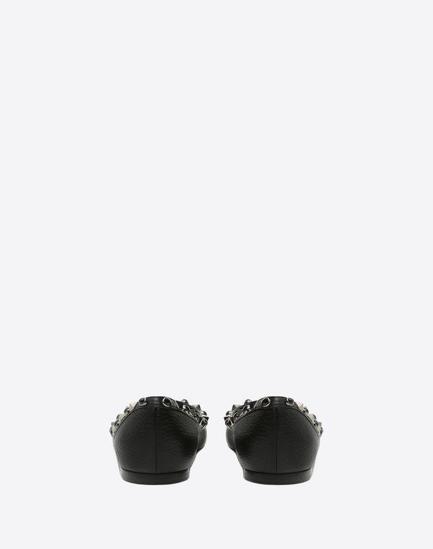 Rockstud Rolling Noir 芭蕾鞋