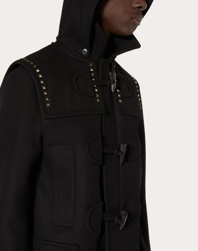 Rockstud Untitled duffle coat