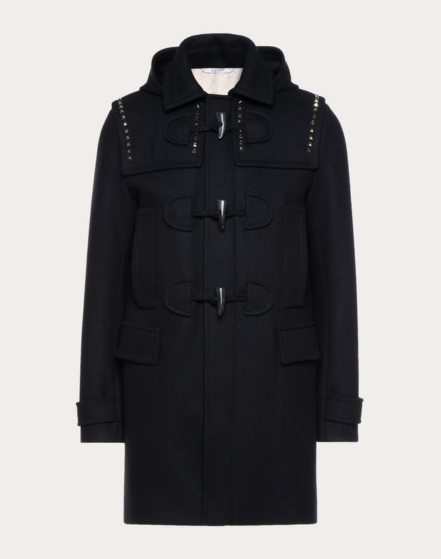 Rockstud Untitled duffel coat